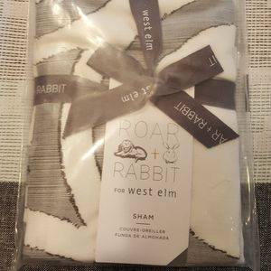 West Elm X Roar + Rabbit Jacquard pillow sham